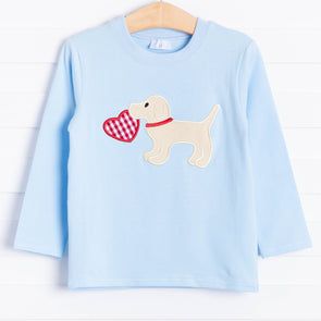 Puppy Love Applique Long Sleeve Shirt