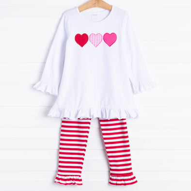 Forever Friends Hearts Applique Pant Set