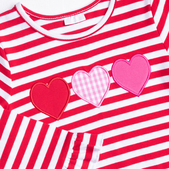 Forever Friends Hearts Applique Dress