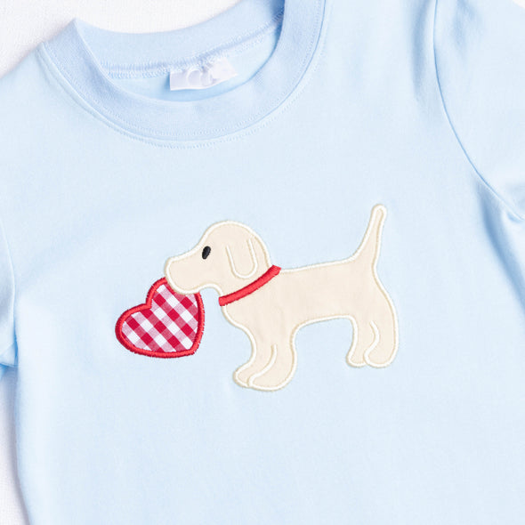 Puppy Love Applique Romper
