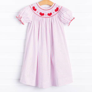Be Mine Smocked Heart Dress