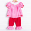 Be Mine Smocked Heart Pant Set