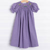 Mardi Gras Smocked Ruffle Dress