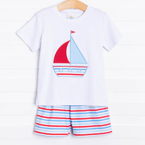 Summer Sailing Knit Short Set