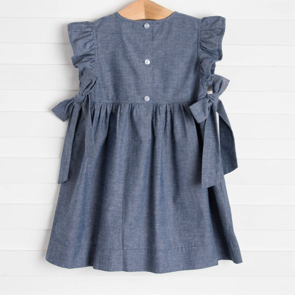 One In A Melon Applique Dress, Denim