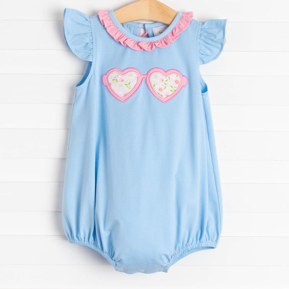See the Love Applique Bubble, Blue