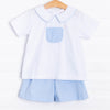 Georgie Boy Short Set, Blue Dot