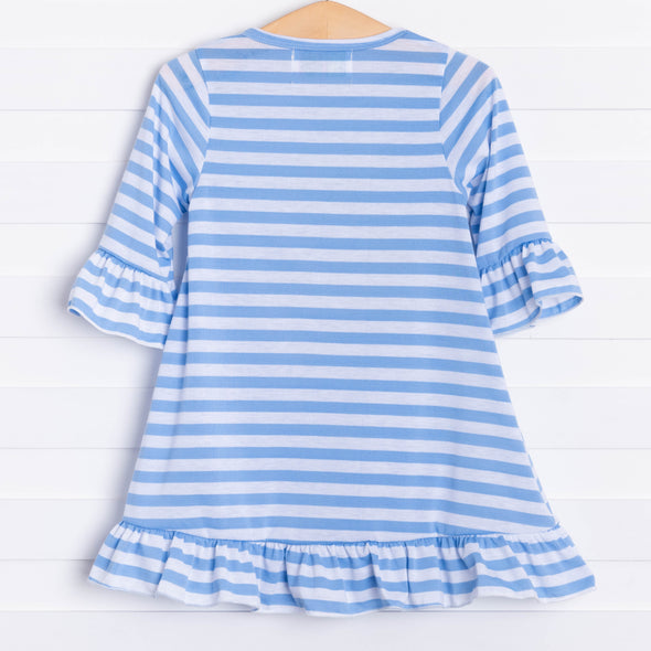 Cherry On Top, Blue Striped Dress