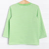 Court Jester Croc Applique Shirt, Green Stripe