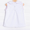 Little White Pleated Top, (Picot, 2 Options)