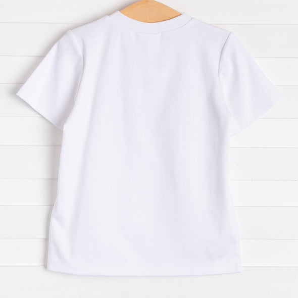 Fintastic Applique Shirt, White
