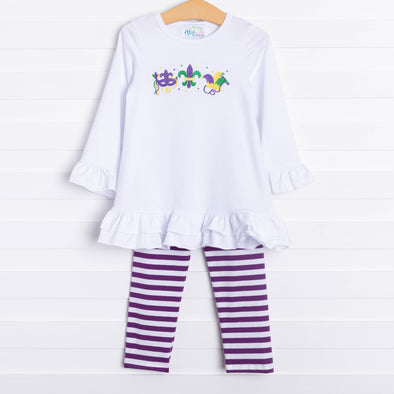 Fleur de Fun Embroidered Pant Set