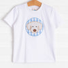 Bow Wow Applique Shirt, Blue Check