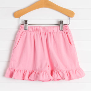 Knit Girl Ruffle Shorts, Solid