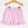 Knit Girl Ruffle Shorts, Stripe