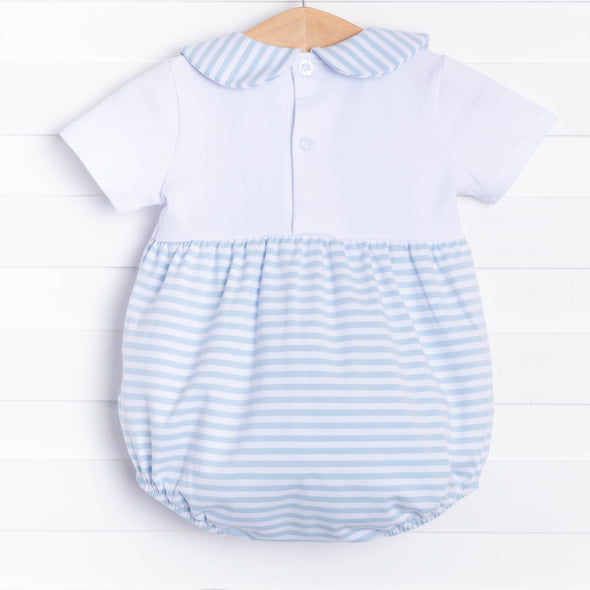 Little Boy Blue Bubble, Cloud Stripe