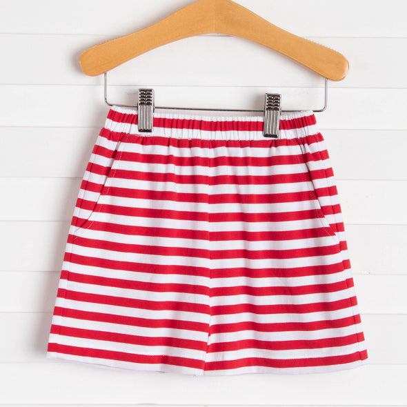 Knit Boy Pocket Shorts, Stripe