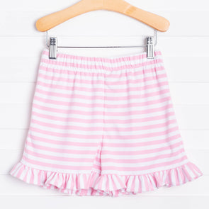 Knit Girl Ruffle Short, Stripe (3 Colors)