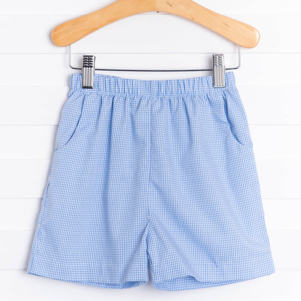 Woven Boy Pocket Short, Gingham (8 Colors)