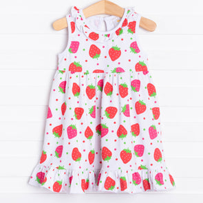 Strawberry Delight Knit Dress