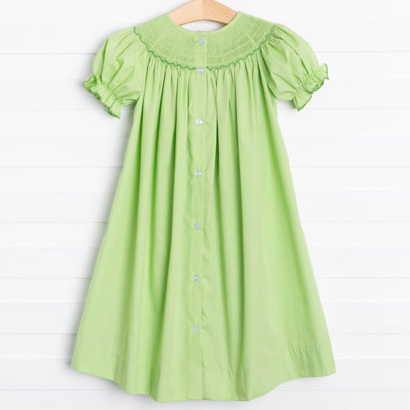 Shamrock Smocked Ruffle Dress