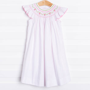 Strawberry Divine Smocked Dress
