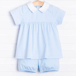 True Blue Pima Bloomer Set, Blue