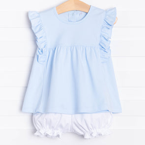 Lillie Flutter Pima Bloomer Set, Blue