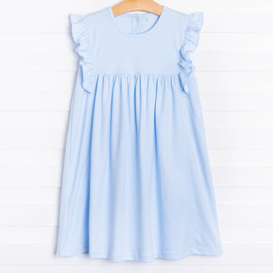 Lillie Flutter Pima Dress, Blue