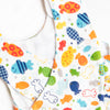 Go Fish Cross Back Bloomer Set, Blue