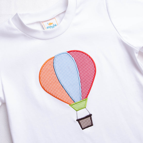 Sky's The Limit Applique Shirt, White