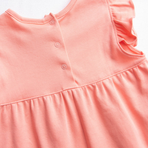 Lillie Flutter Pima Bloomer Set, Peach