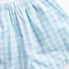 Look to the Sea Boy Short Set, Mint/Blue Check