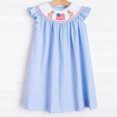 Pups and Pride Dress, Blue