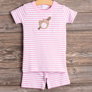 Magnolia Baby Batter Up Pajamas, Pink