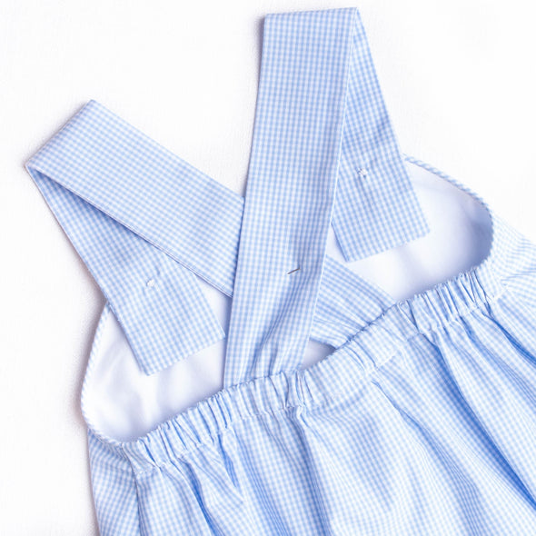 Salute The Flag Smocked Sunsuit, Blue