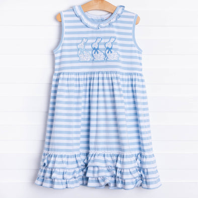 Blue Bunny Applique Dress