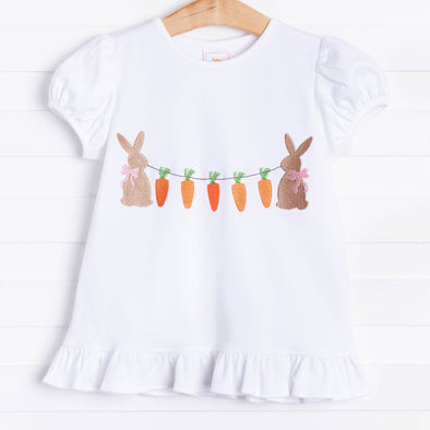 Hoppy Easter Applique Ruffle Shirt