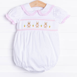 Poppy Cottontail Smocked Bubble, Pink