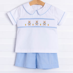 Peter Cottontail Smocked Short Set
