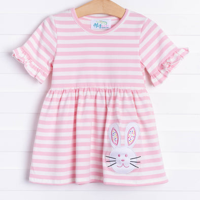 Funny Bunny Tunic, Pink Stripe