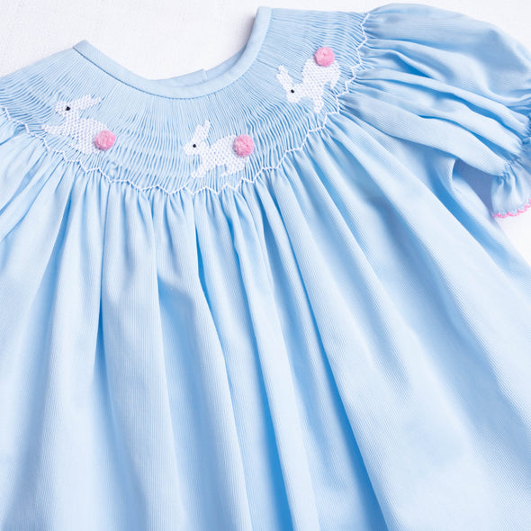 Bunny Tails Smocked Bloomer Set