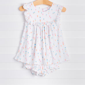 Ice Cream Ruffle Dress