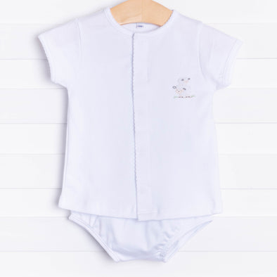 Magnolia Baby Tiny Sheep Embroidered Diaper Set