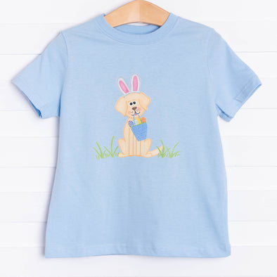 Easter Puppy Graphic Tee, Blue