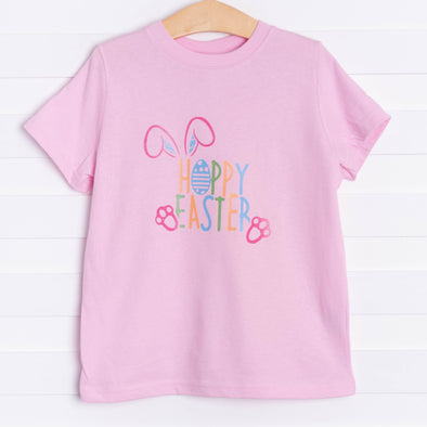Happy Hoppy Easter Graphic Tee, Pink