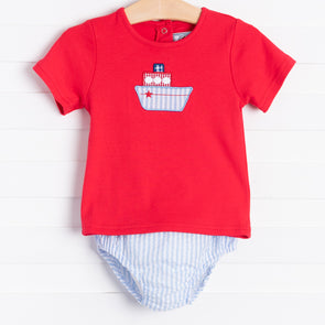 Tugboat Diaper Set