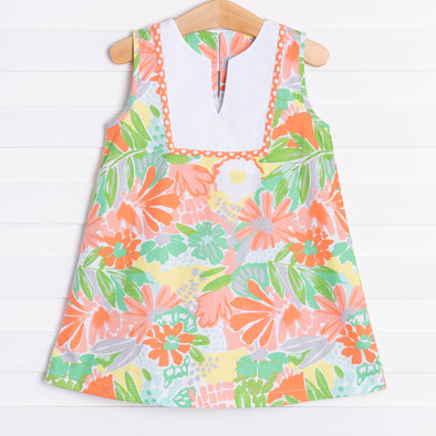 Three Sisters Sherbet Floral V-Neck Dress