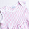 Squiggles Addison Sunsuit, Pink Stripe