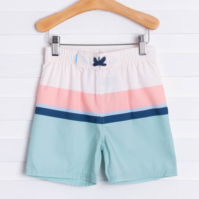 Rugged Butts Sage Color Block Swim Trunks